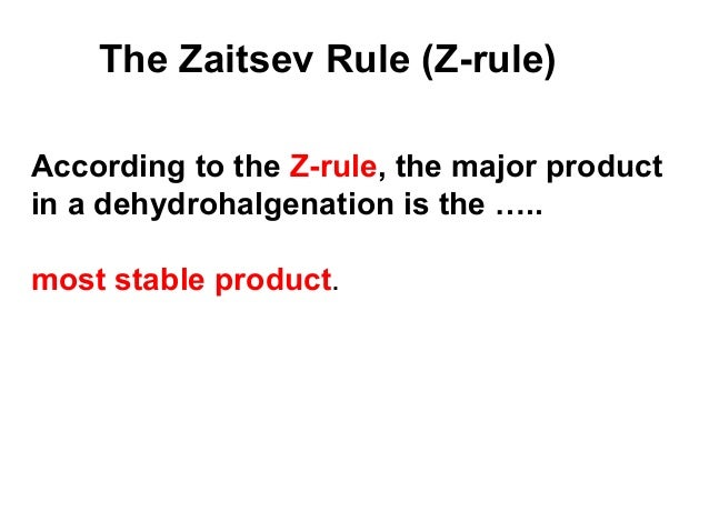 what is saytzeff rule give an example