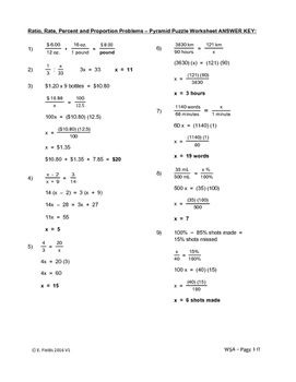 example of problem solving in ratio and proportion