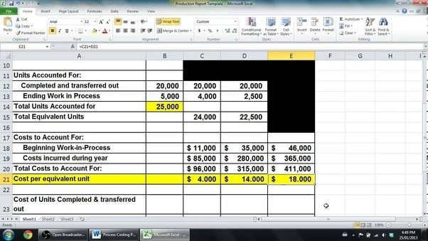 job order costing example and solution