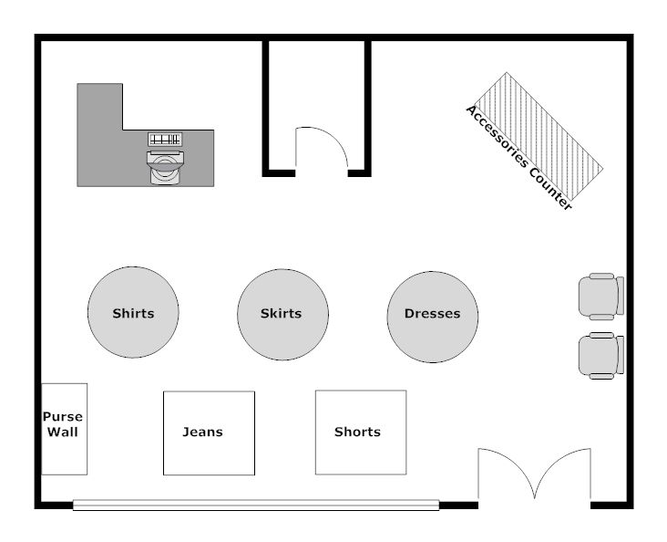 interior design floor plan example