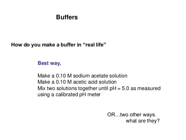 what is an example of a buffer