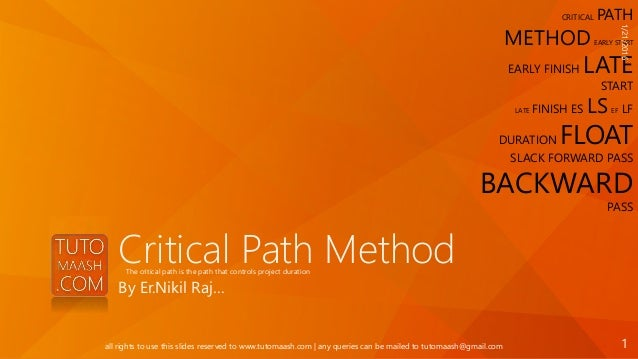 cpm critical path method example