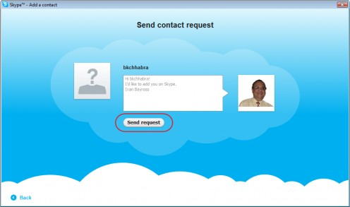 sending request on skype message example
