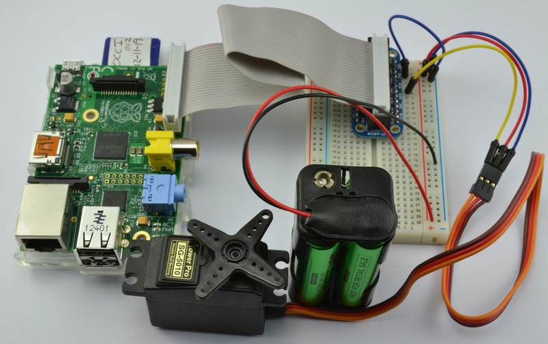 battery and dc power supply breadboard example