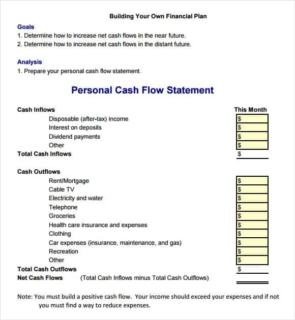 cash flow statement meaning with example