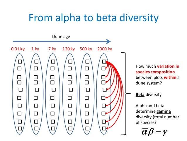 alpha beta gamma diversity example