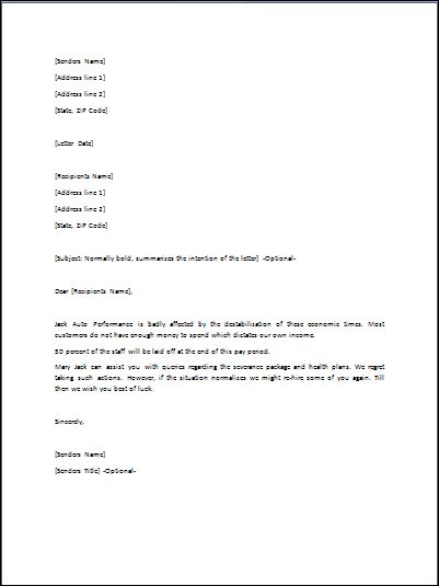cover letter laid off example