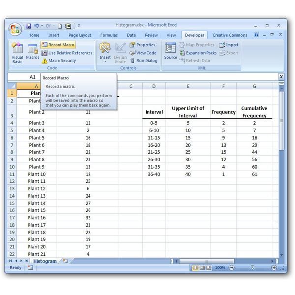 use of macros in excel 2007 with example
