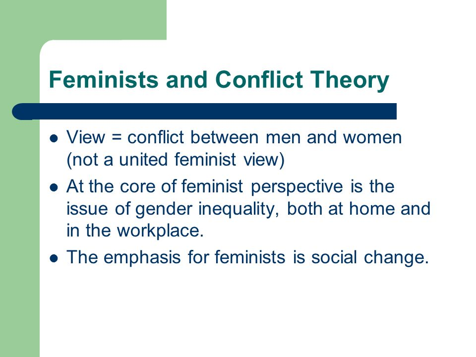 what is an example of conflict theory