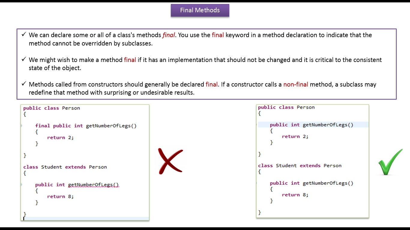 final keyword in java with example
