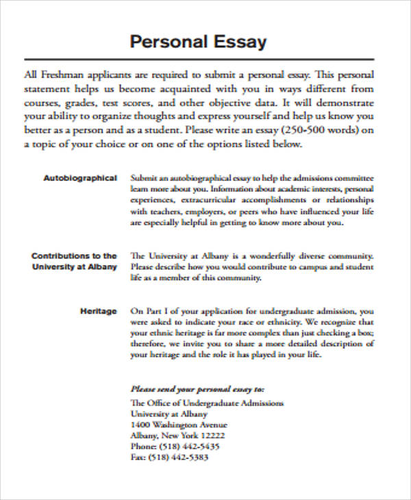 example of essay writing pdf