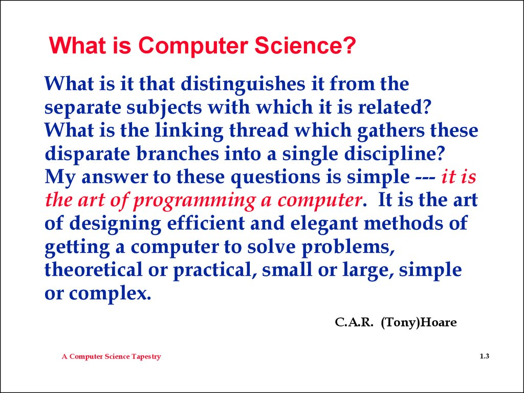 example of applied computer science field