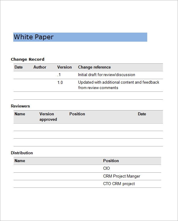 format of position paper with example