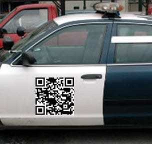 example of qr code car giveaway
