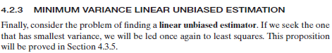 best linear unbiased estimator example
