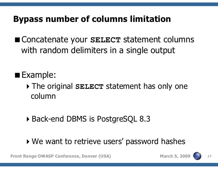 sql injection order by example