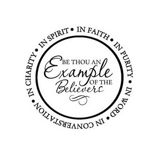 be an example to the believers sermon