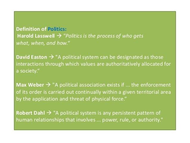 example of harold lasswell politics