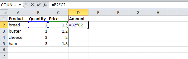 relative cell reference excel 2010 example