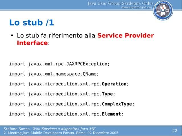 web service stub java example