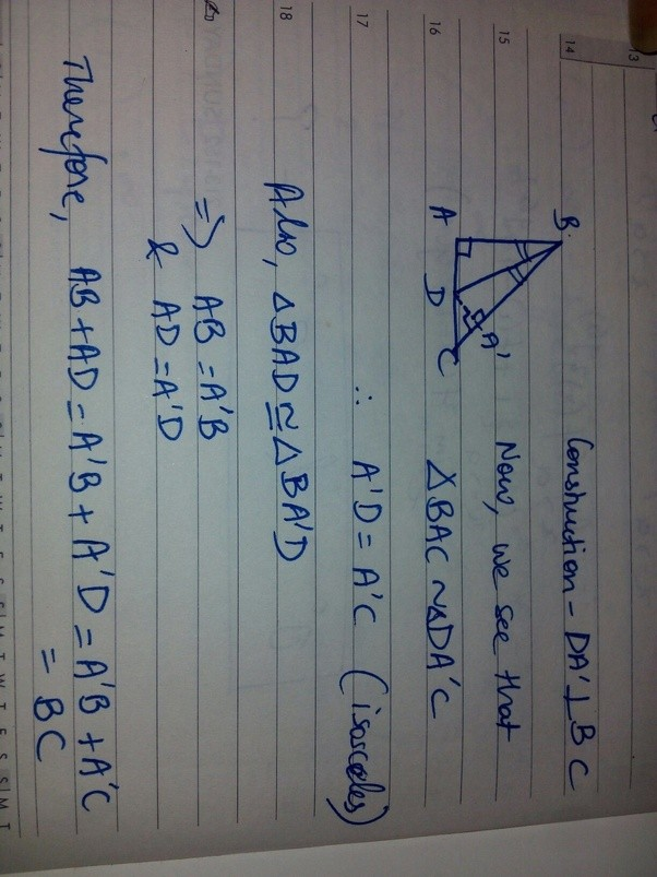 bisector of an angle example