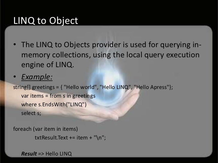linq to sql connection string example