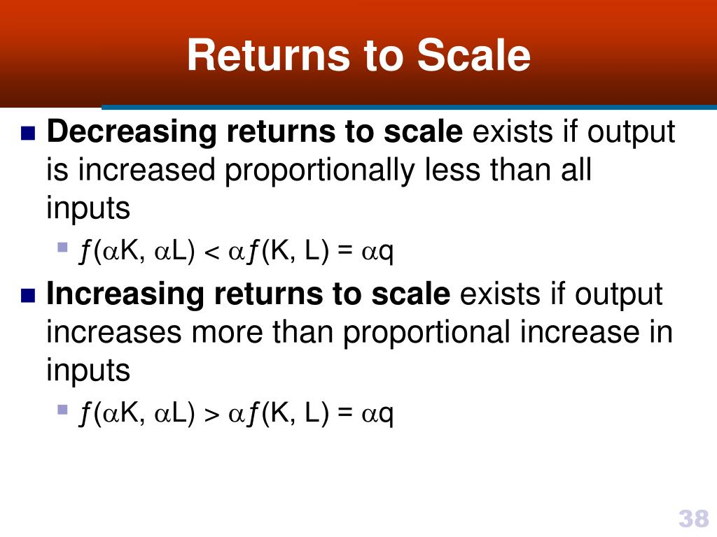 constant return to scale technology example