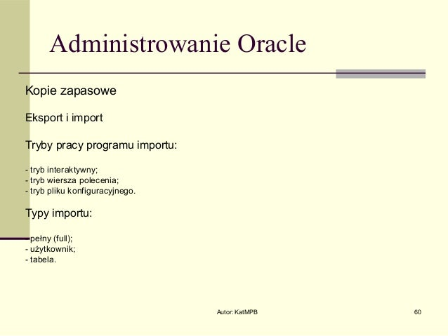 oracle imp fromuser touser example