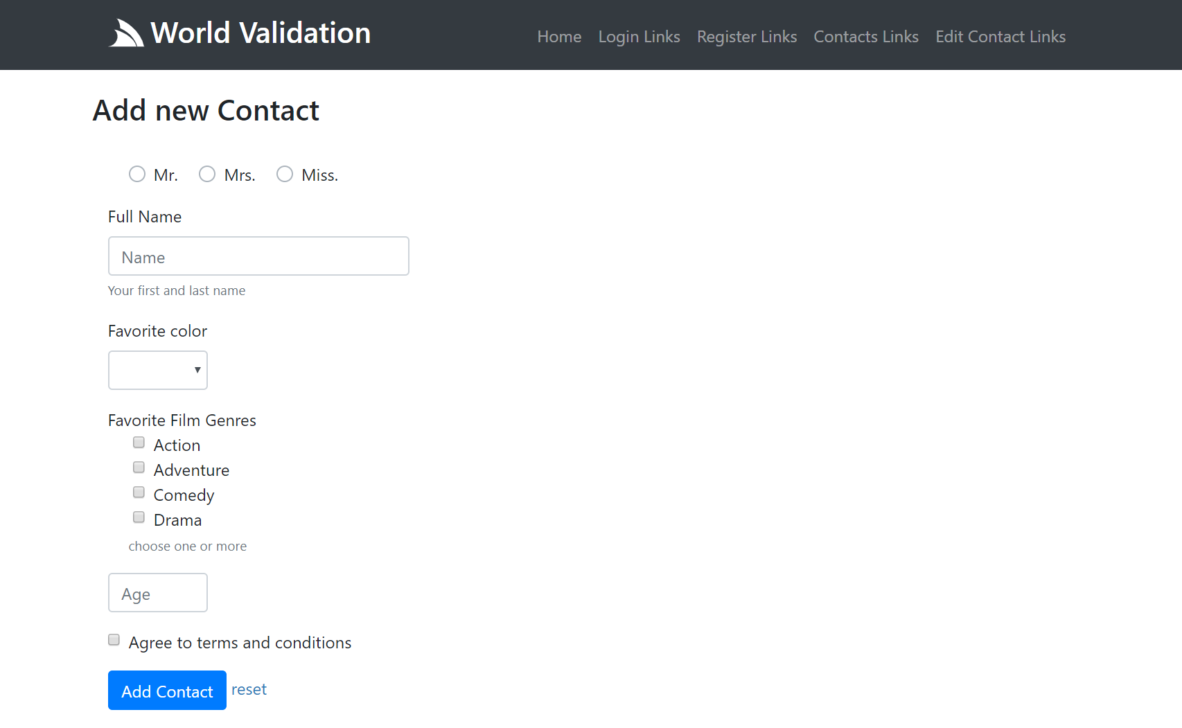 html form validation using jquery example
