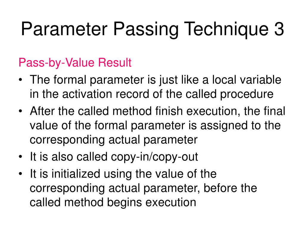 parameter passing methods with example