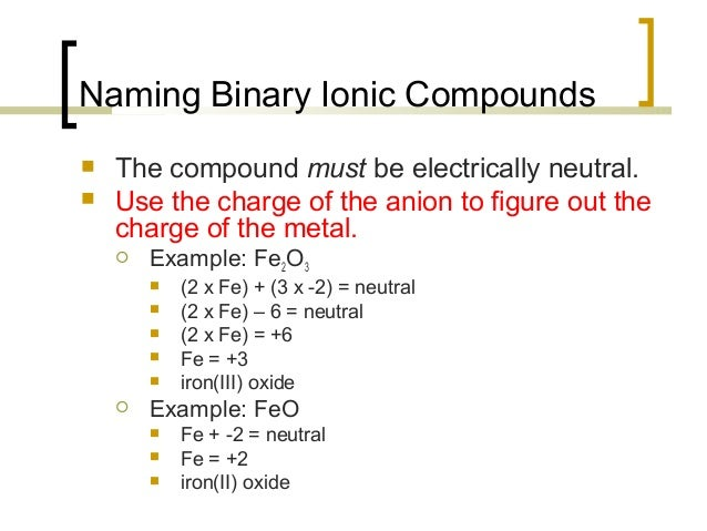 which compound is an example of a binary ionic compound