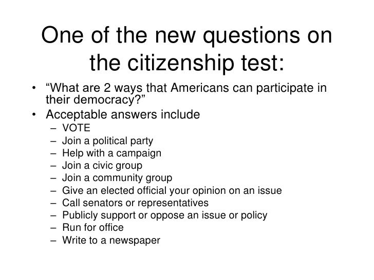 what is a example of informed citizenship yahoo answers