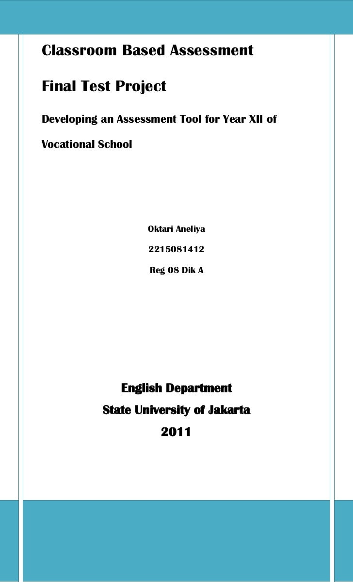 example of observation based assessment tool