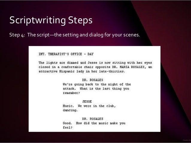 screenwriting subjective camera script example