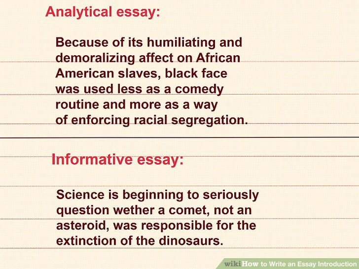 how to write a essay introduction example