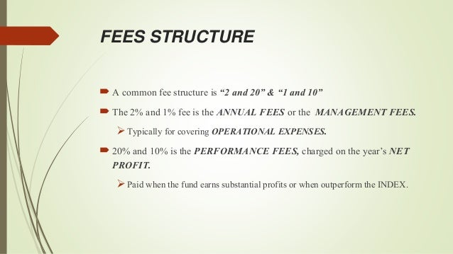hedge fund fee structure example