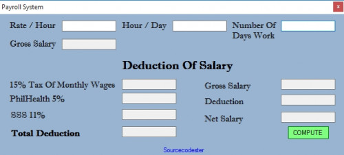 example of company payroll system