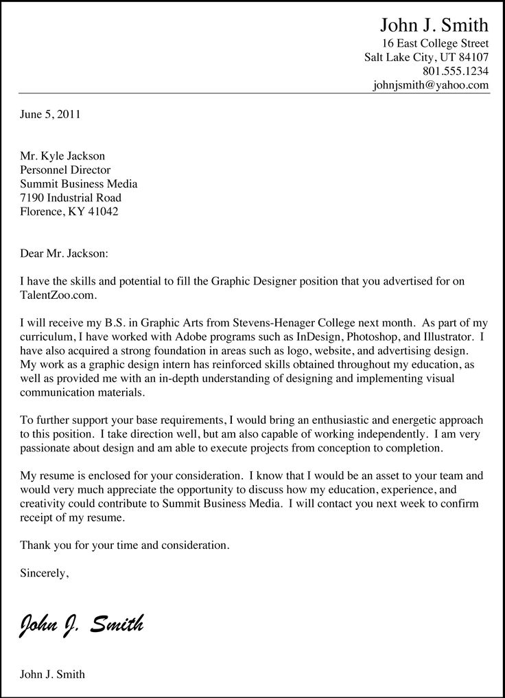 free example of a letter of resignation