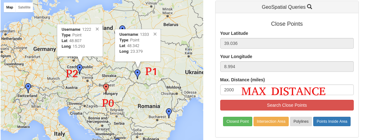 google distance matrix api example javascript