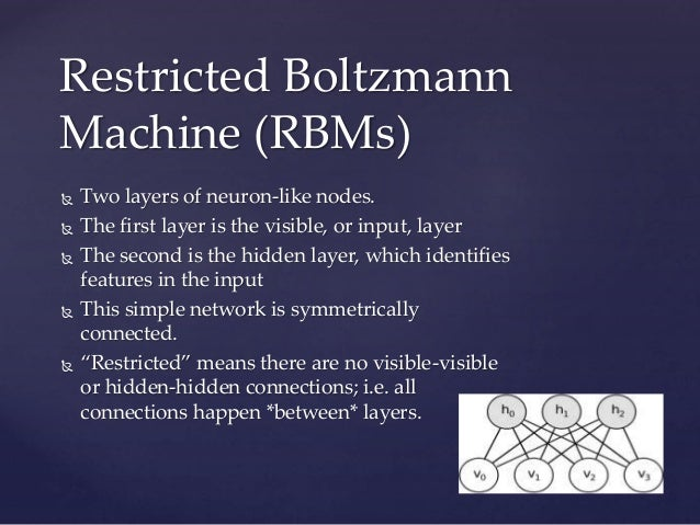 restricted boltzmann machine simple example
