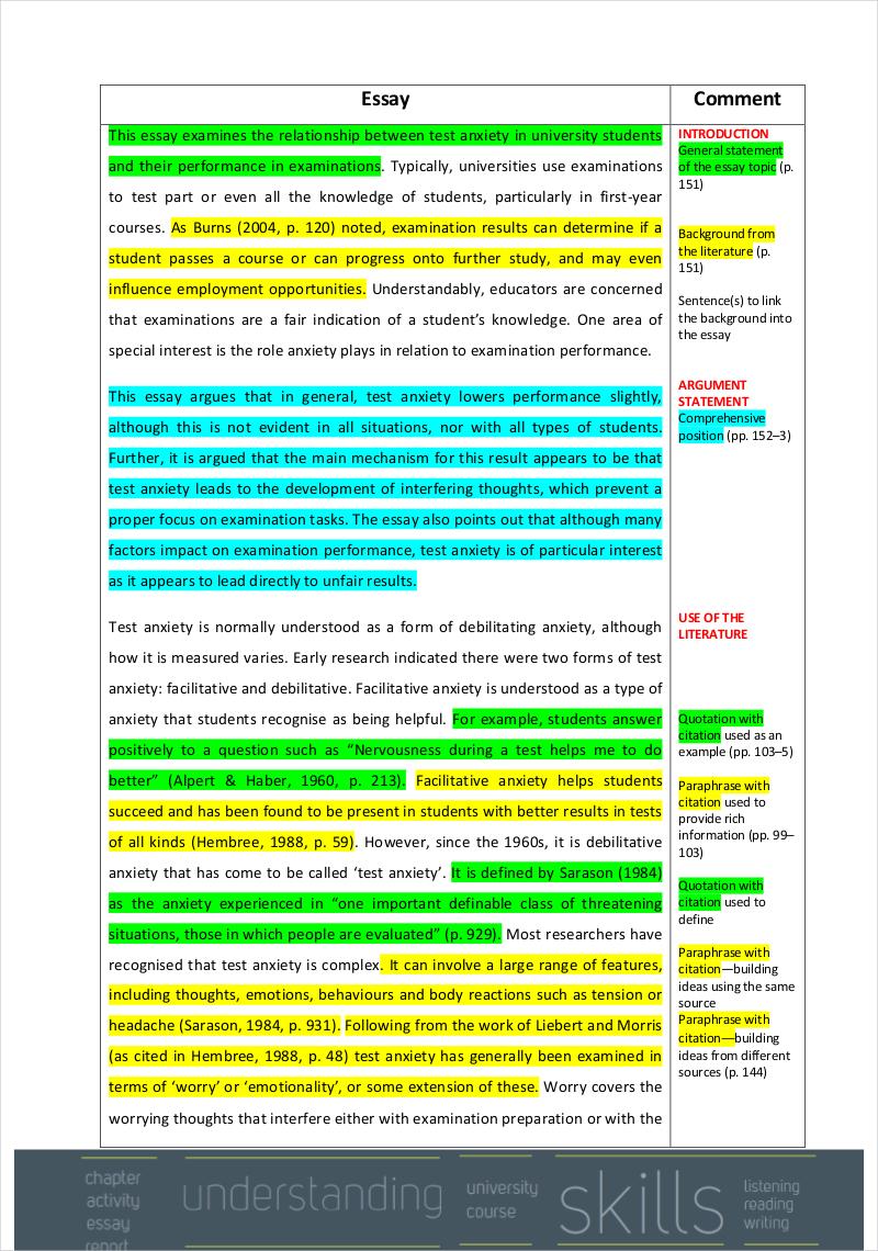 example of academic writing essay
