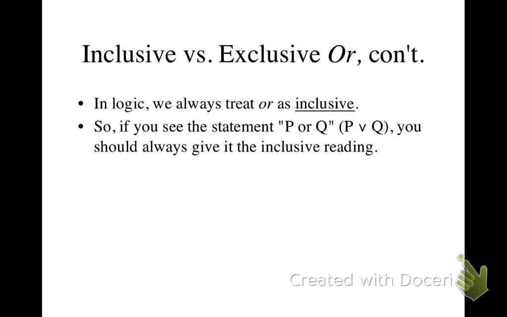 inclusive and exclusive language example