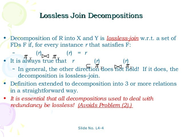 lossless join decomposition in dbms example