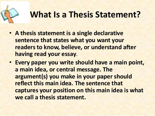 example of a thesis statement for a story