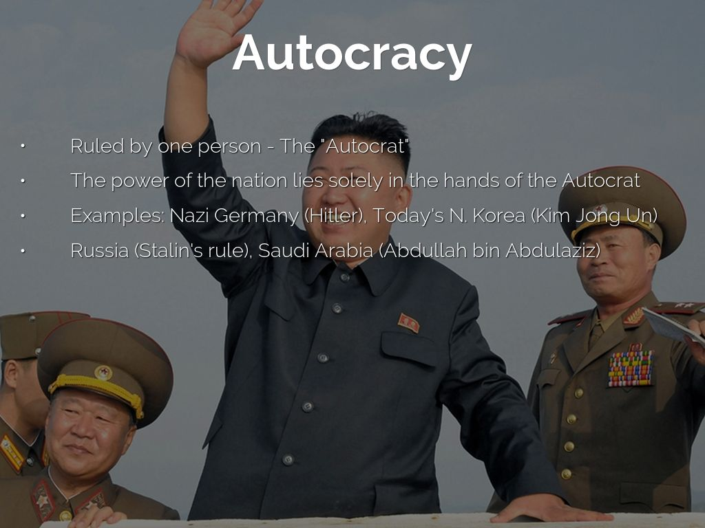 what is an example of an autocracy