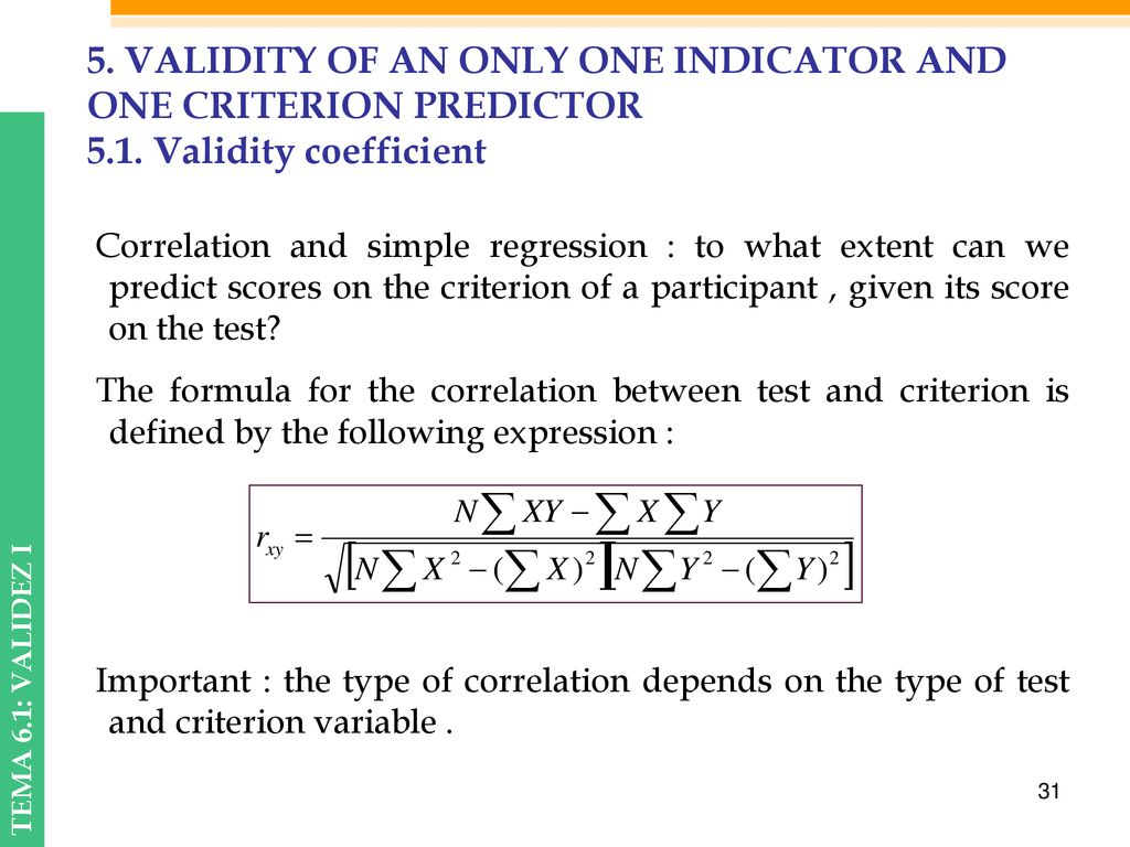 example of predictor and criterion variable