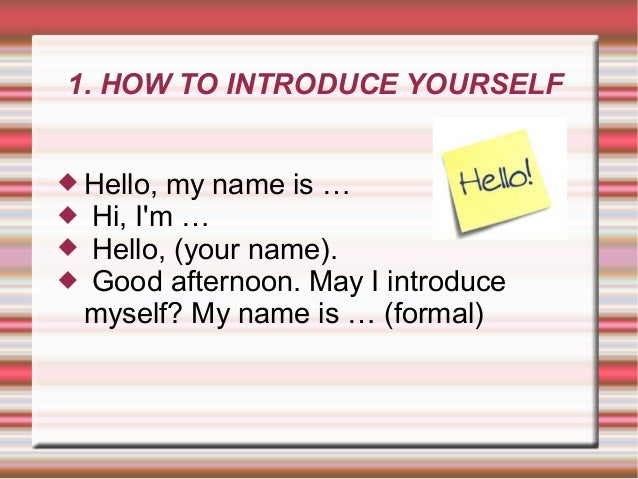 introduce yourself in english for job interview example