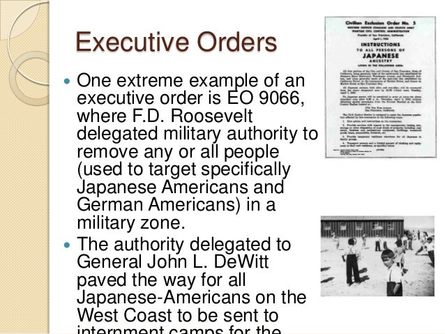 what is an executive order example