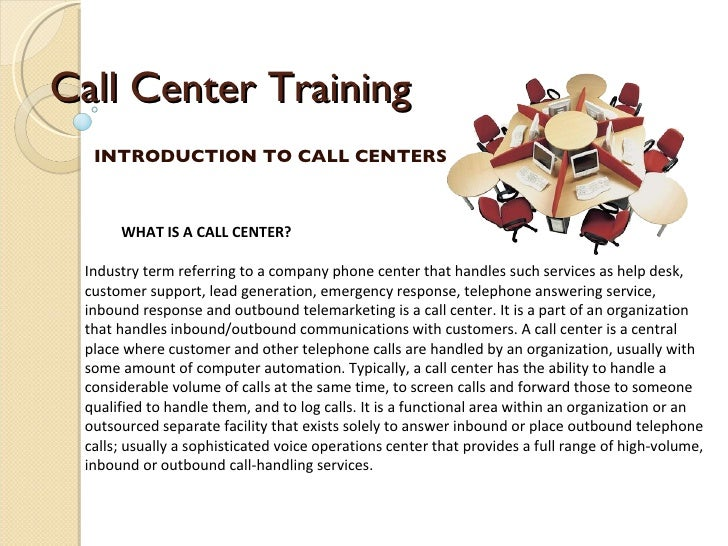 presentation letter example for call centers