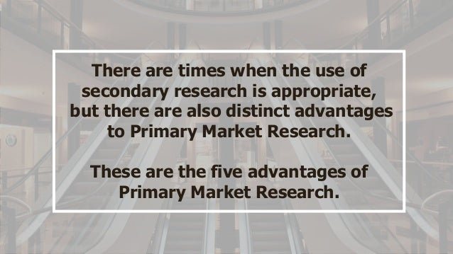 an example of secondary market research